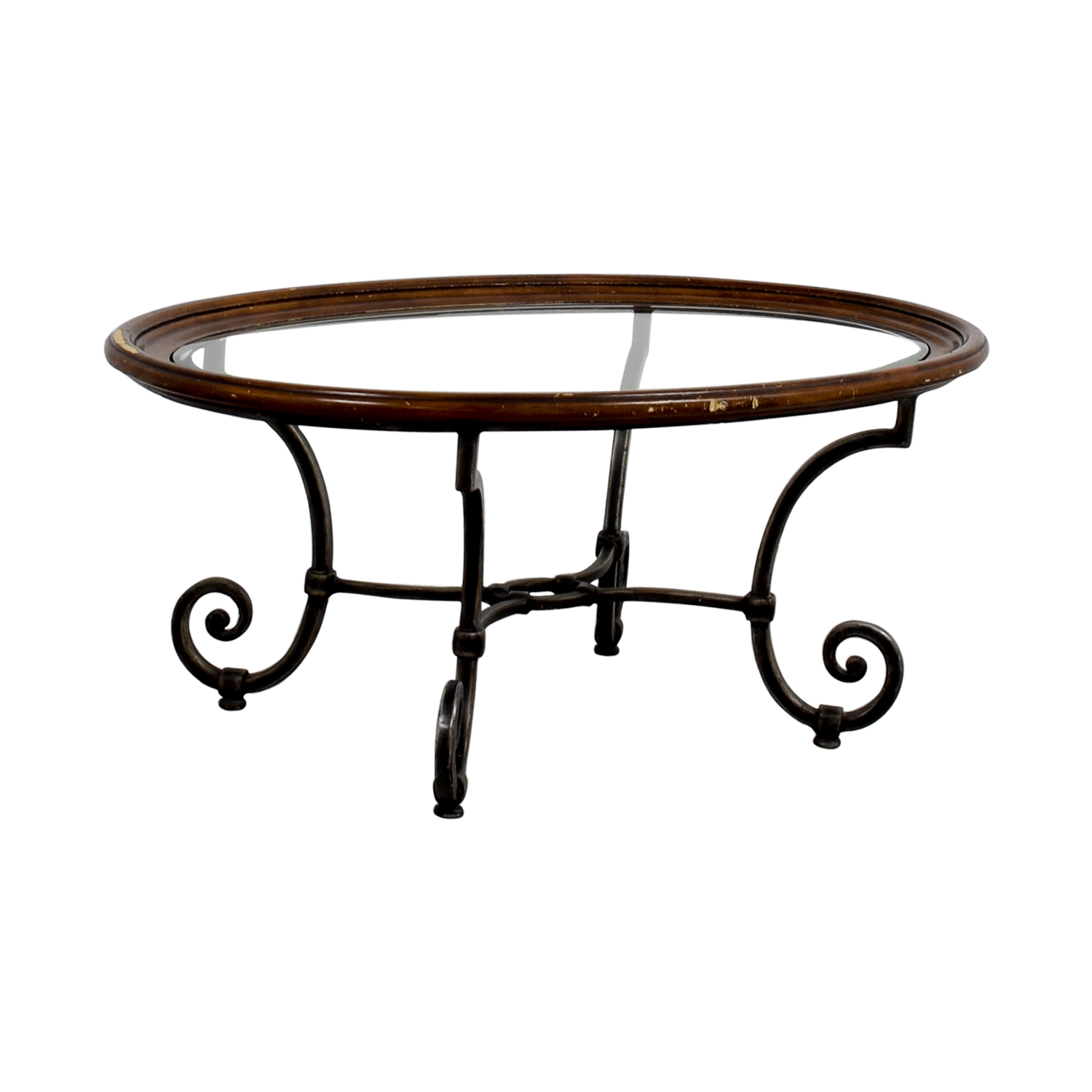 Ethan Allen Tuscan Coffee Table: Ethan Allen Ethan Allen Glass Coffee Table / Tables