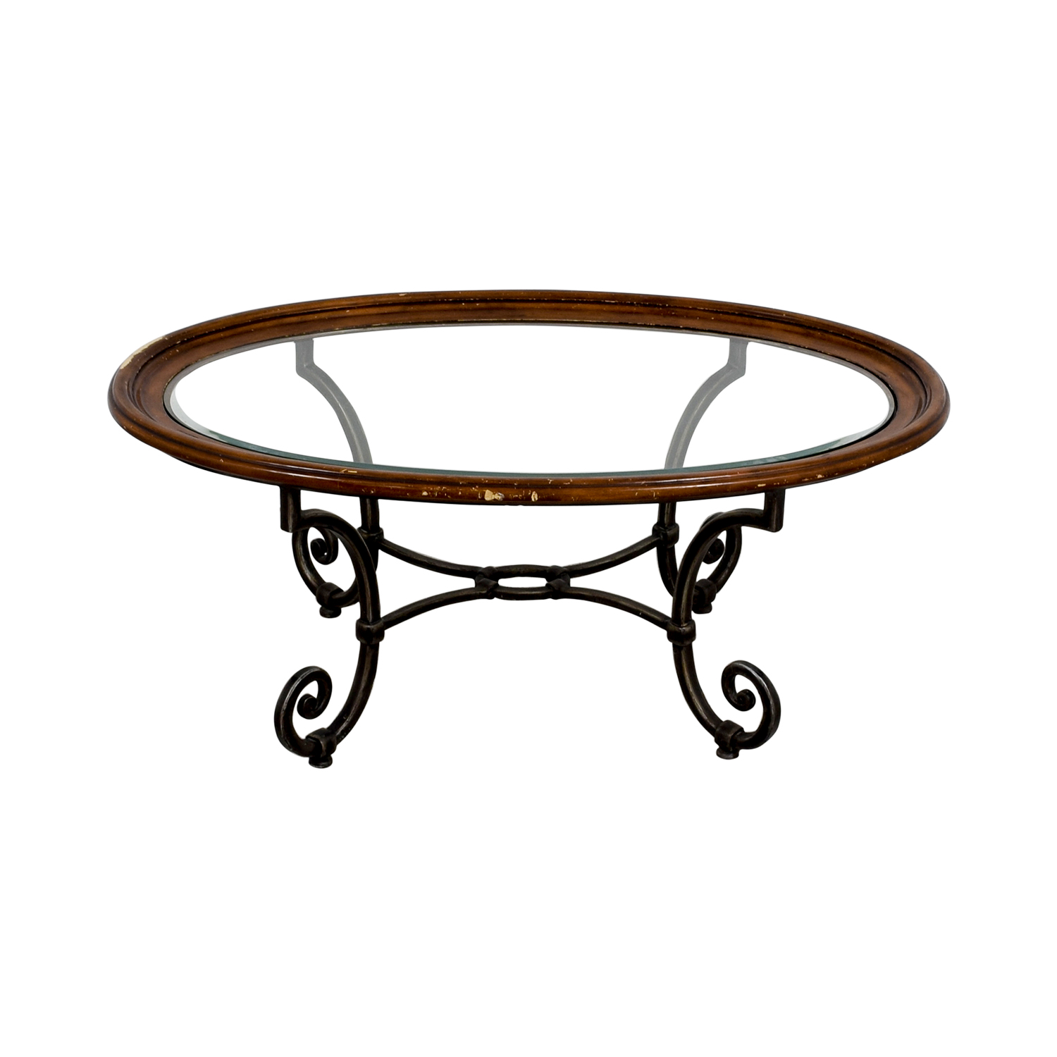 Ethan Allen Ethan Allen Glass Coffee Table on sale