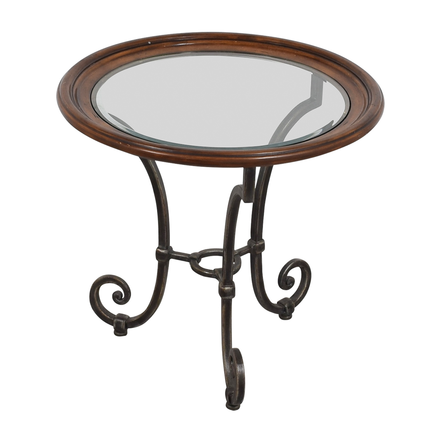 36% OFF Ethan Allen Ethan Allen Glass Side Table Tables