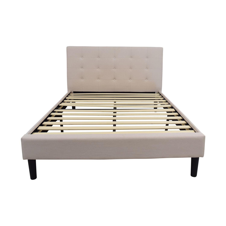 buy Beige Tufted Queen Bed Frame Beds