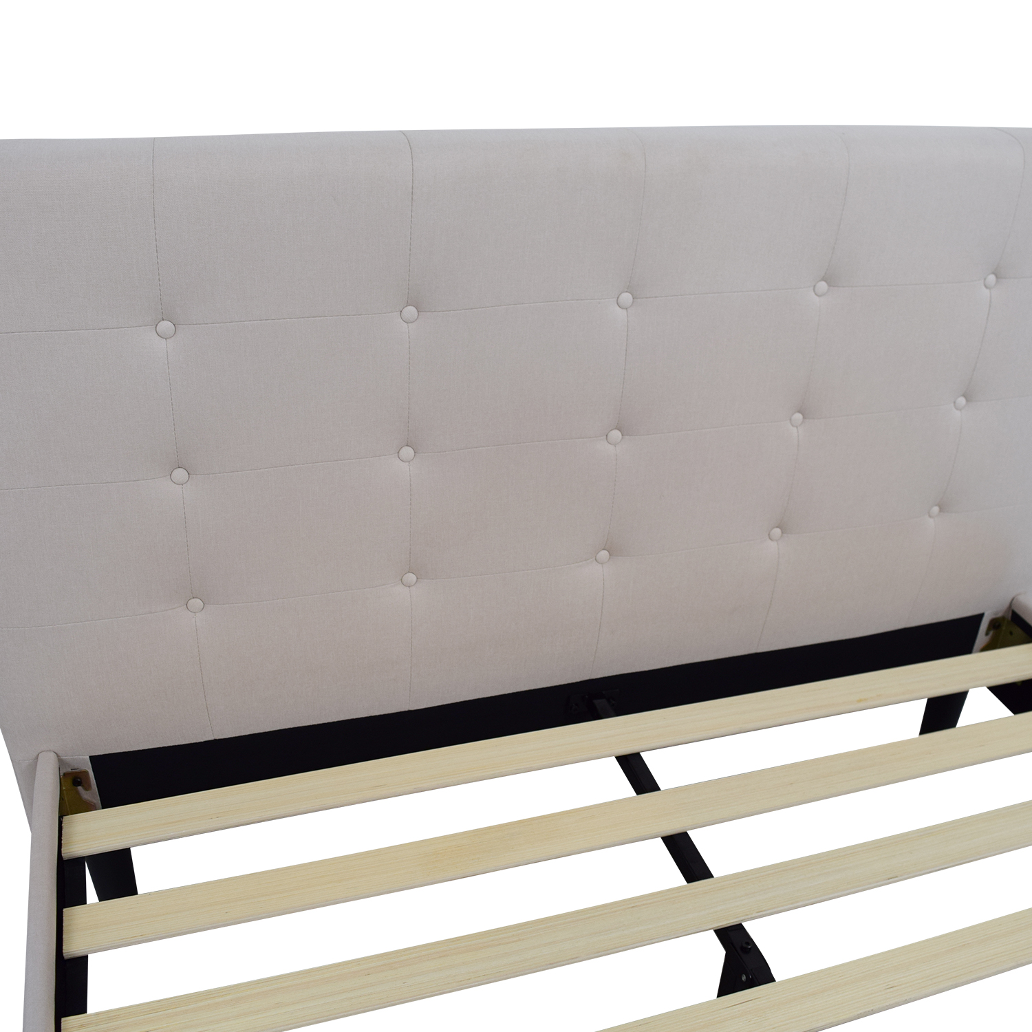 Beige Tufted Queen Bed Frame price