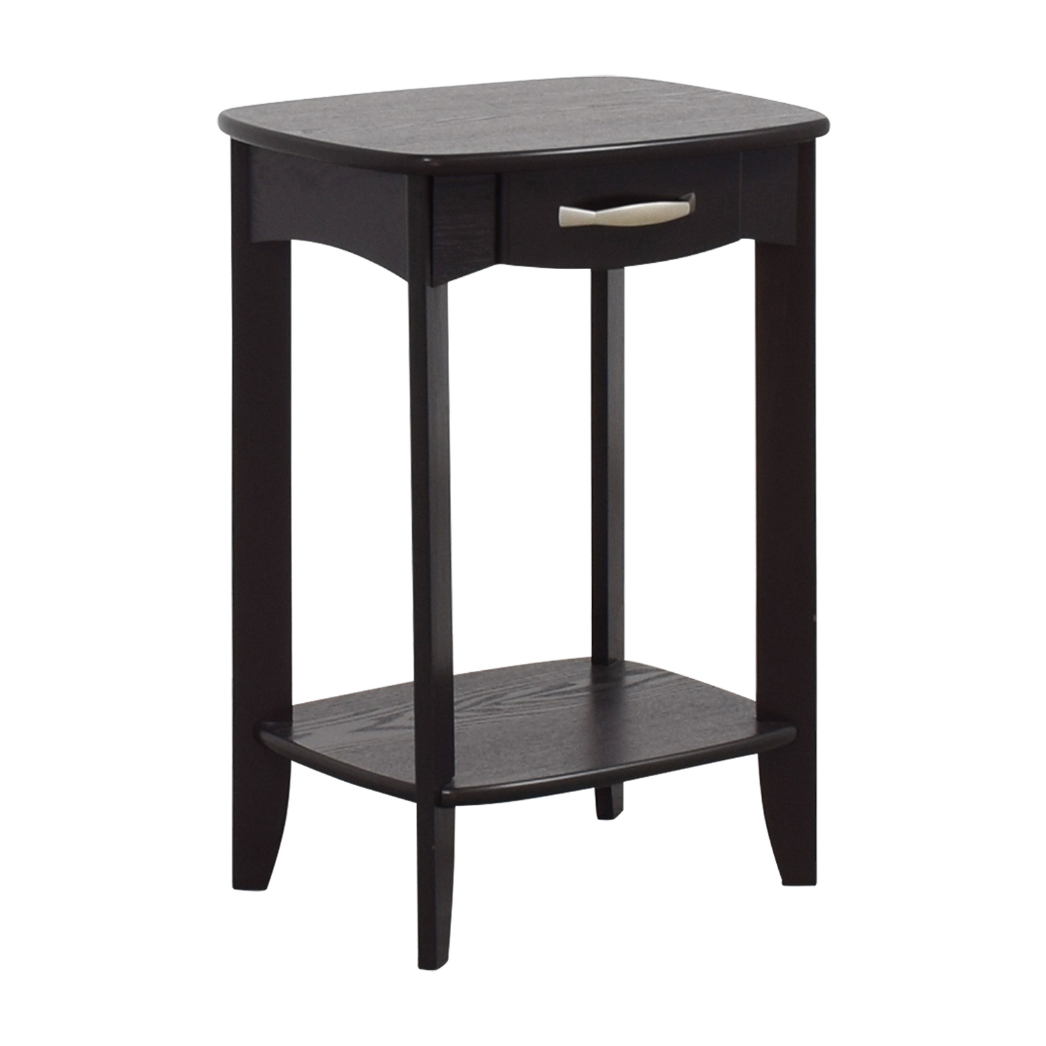 Black Single Drawer End Table End Tables