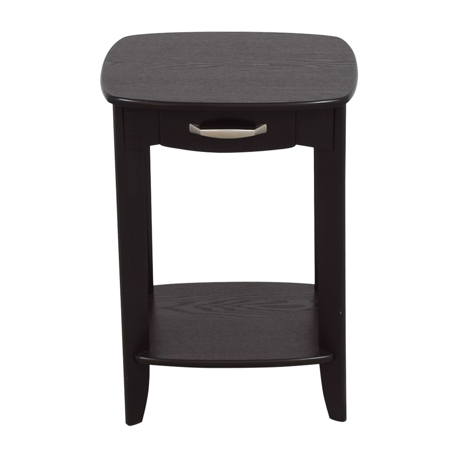 Black Single Drawer End Table / End Tables