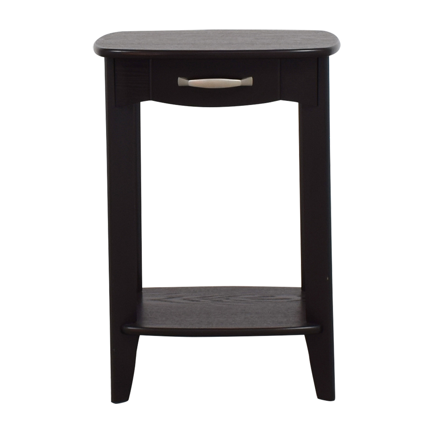 Black Single Drawer End Table discount