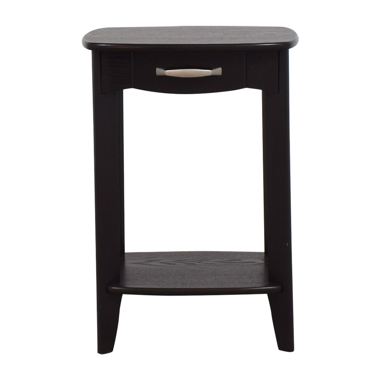 shop Black Single Drawer End Table