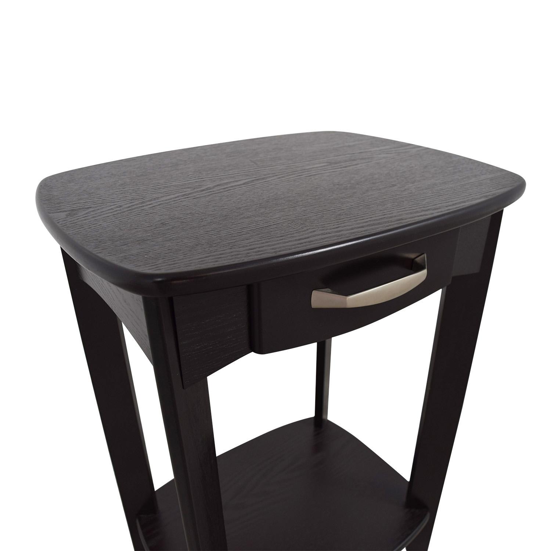Black Single Drawer End Table used