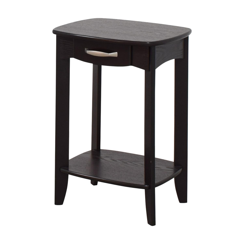 shop Black Single Drawer End Table Tables
