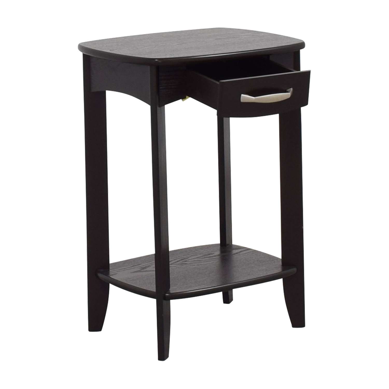 Black Single Drawer End Table Tables