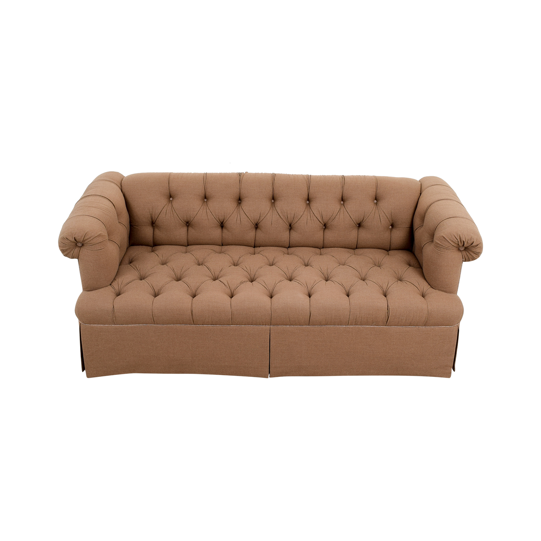 buy Lewis Mittman Custom Brown Tufted Sofa Lewis Mittman Classic Sofas