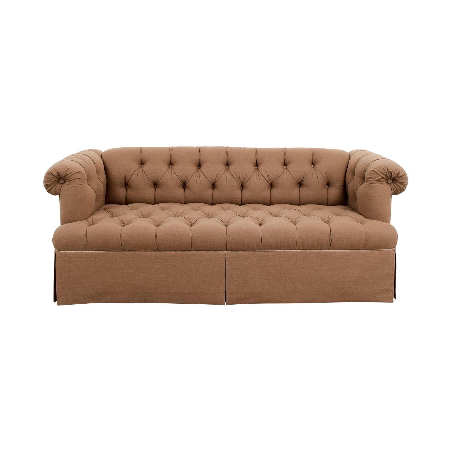 buy Lewis Mittman Custom Brown Tufted Sofa Lewis Mittman