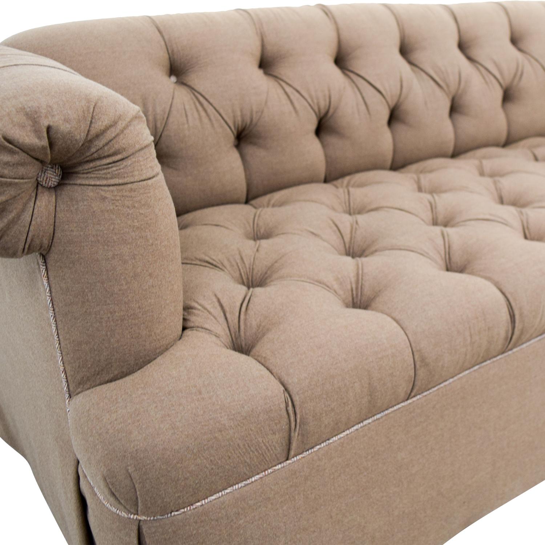 Lewis Mittman Lewis Mittman Custom Brown Tufted Sofa Sofas