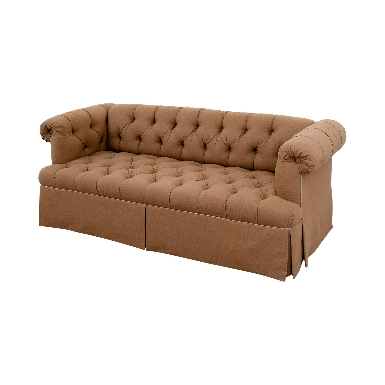 Charmant ... Lewis Mittman Lewis Mittman Custom Brown Tufted Sofa Classic Sofas ...