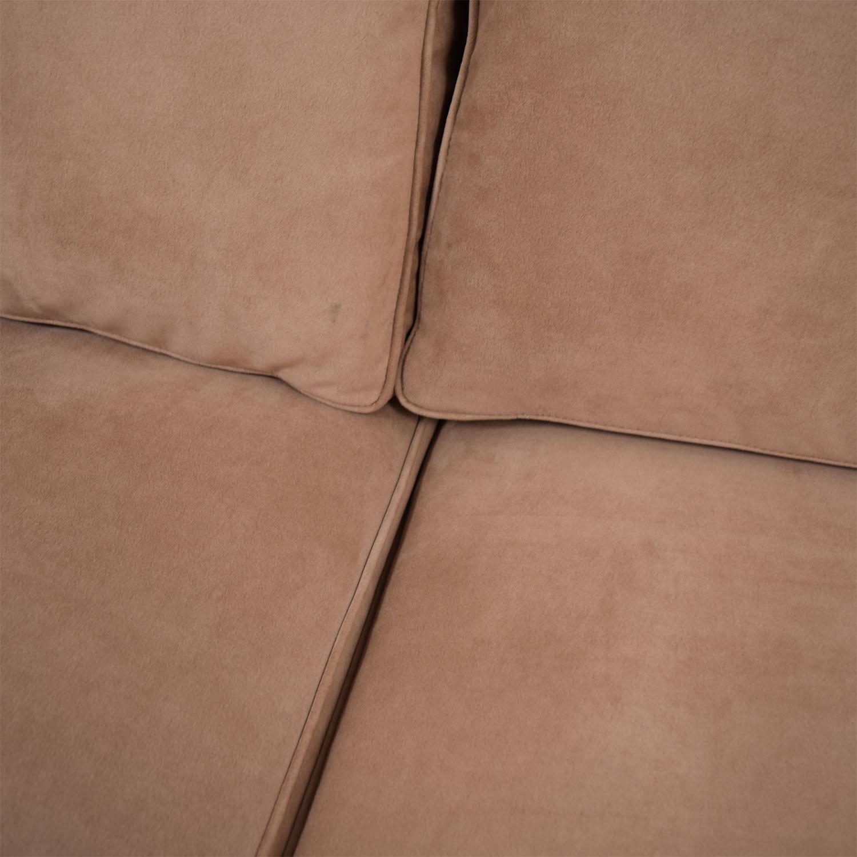 Furniture Masters Furniture Masters Custom Tan Two Seater Sofa dimensions