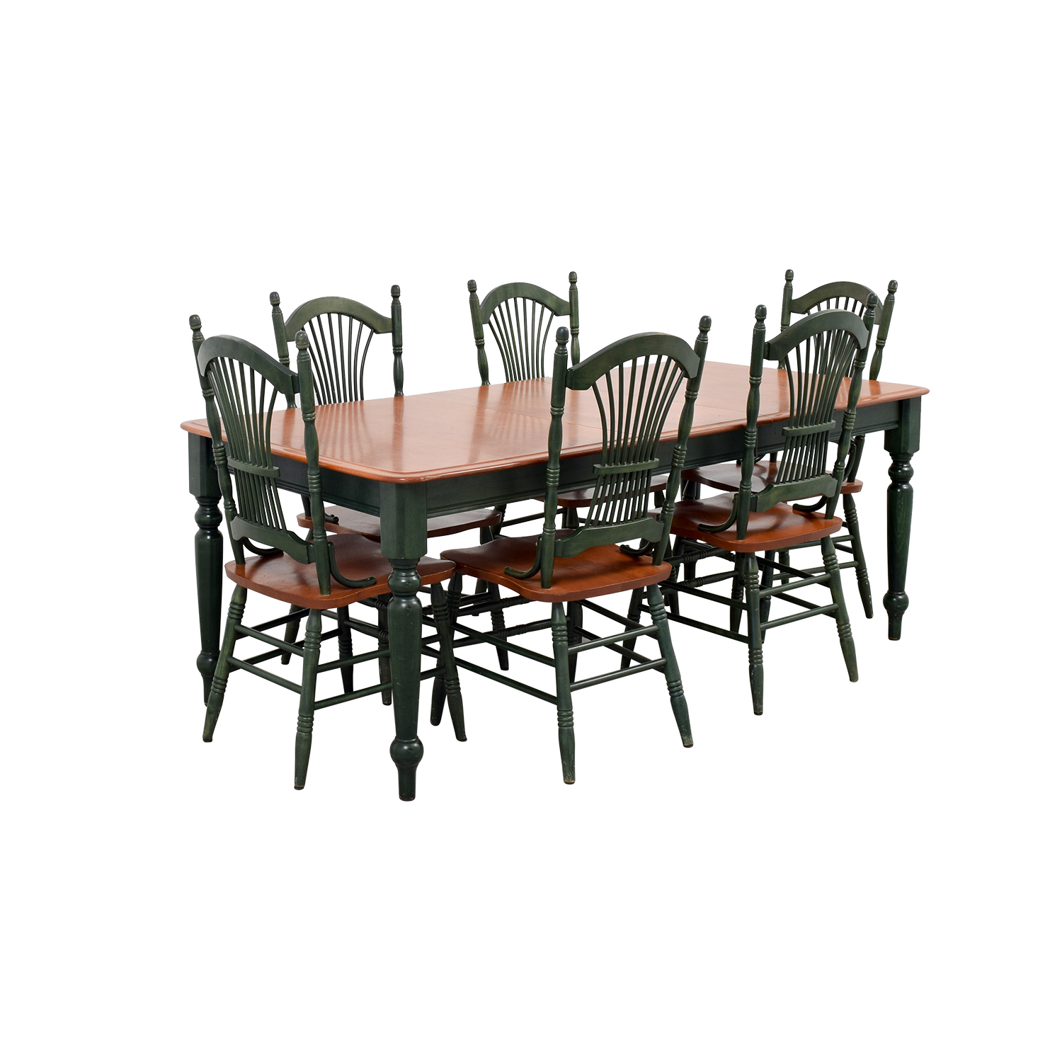 shop  Dining Table with Extension Leaf and Green Chairs online