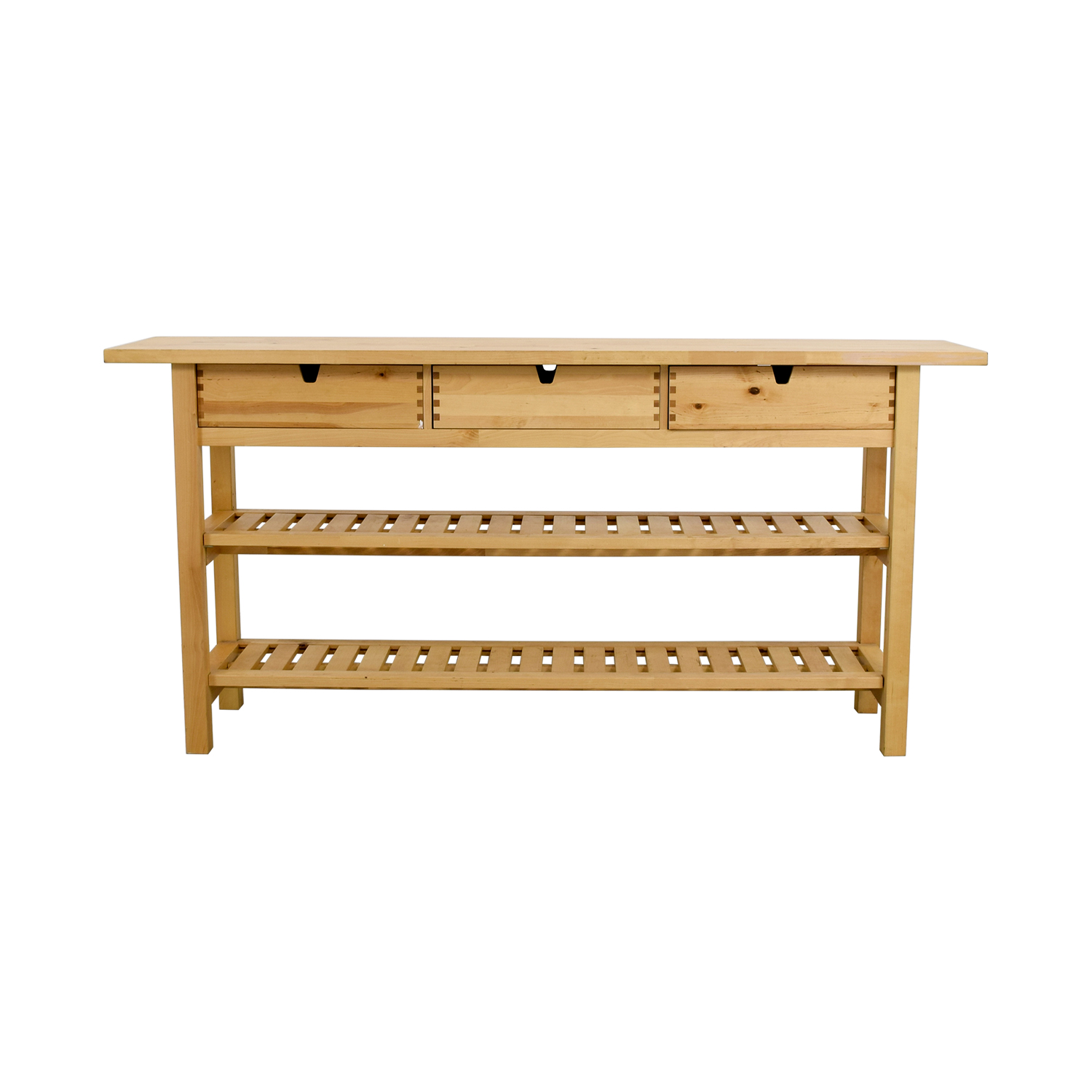 Buy IKEA IKEA Three Drawer Long Console Table With Shelves Online ...