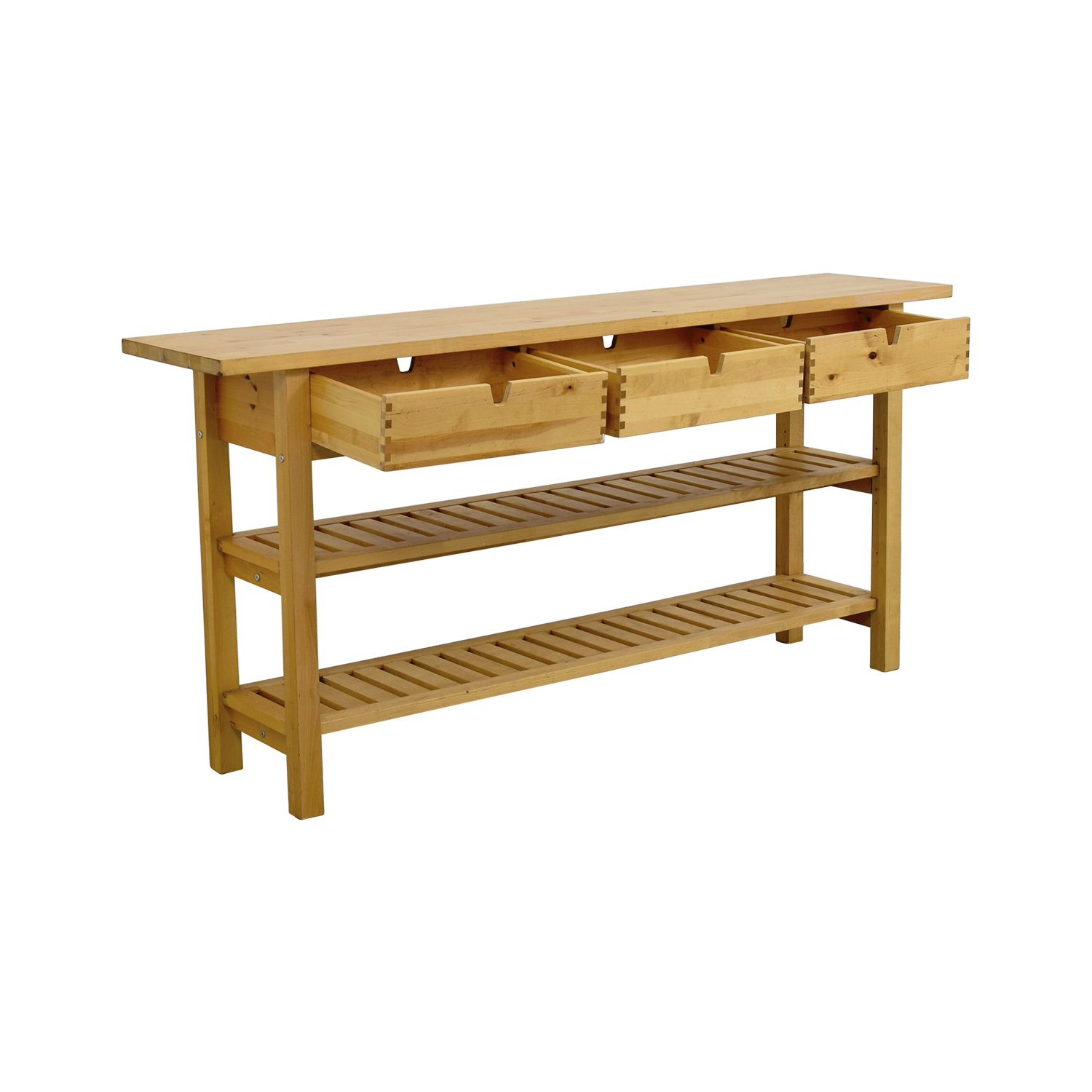 Console Table Ikea: IKEA IKEA Three Drawer Long Console Table With