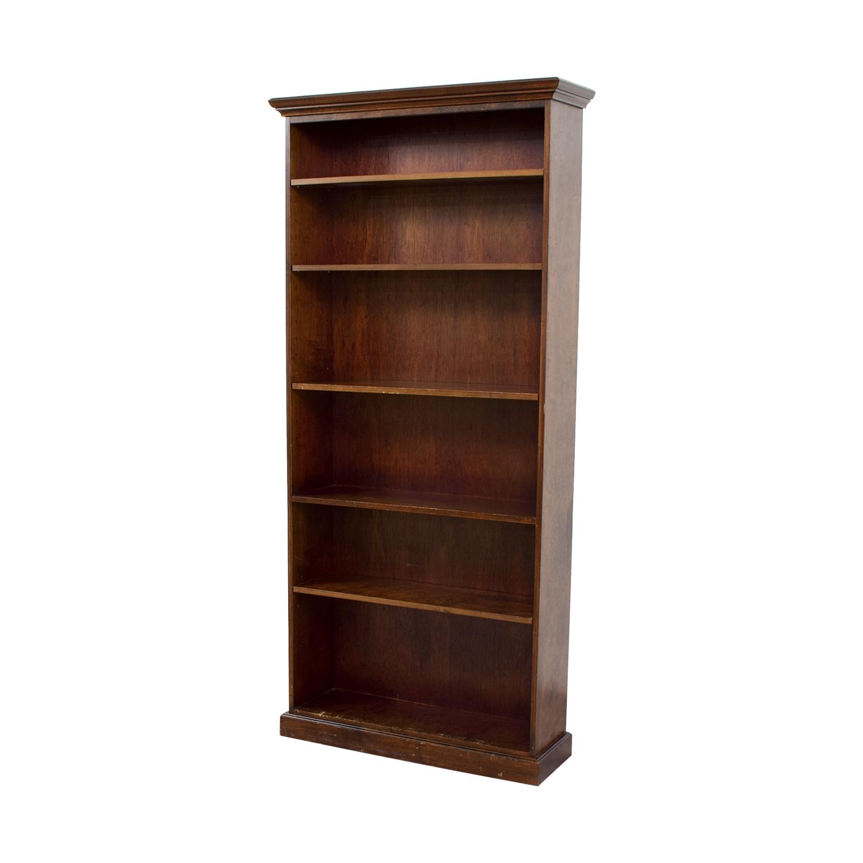 Five Shelf Wood Book Shelf Bookcases & Shelving