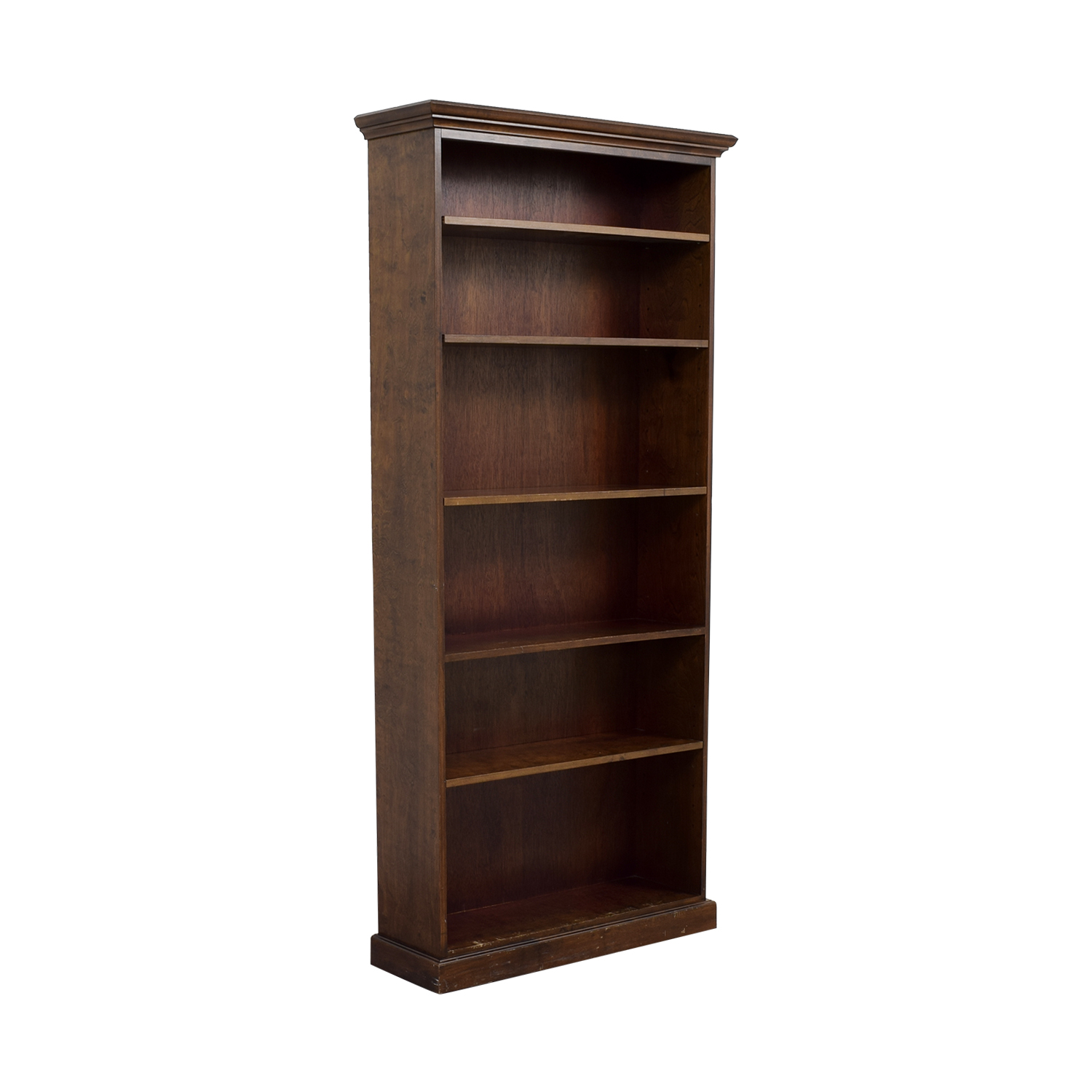 Five Shelf Wood Book Shelf discount