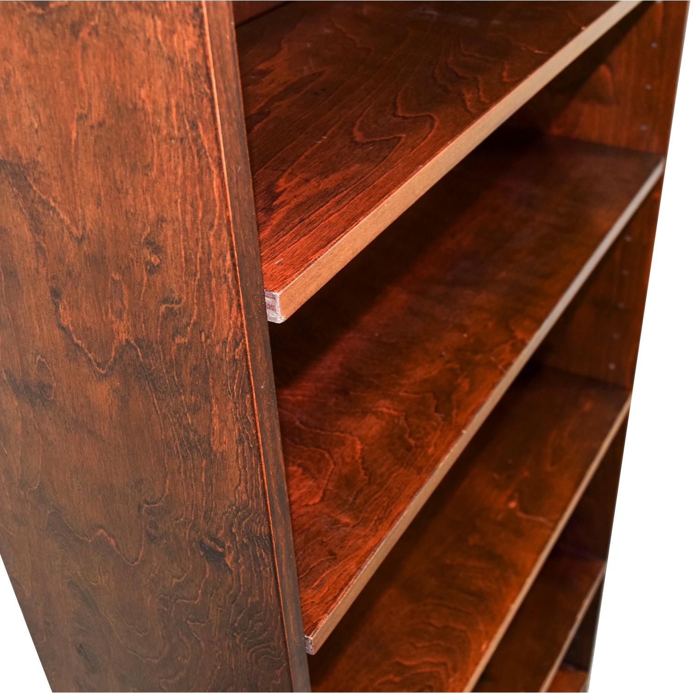 Five Shelf Wood Book Shelf nj