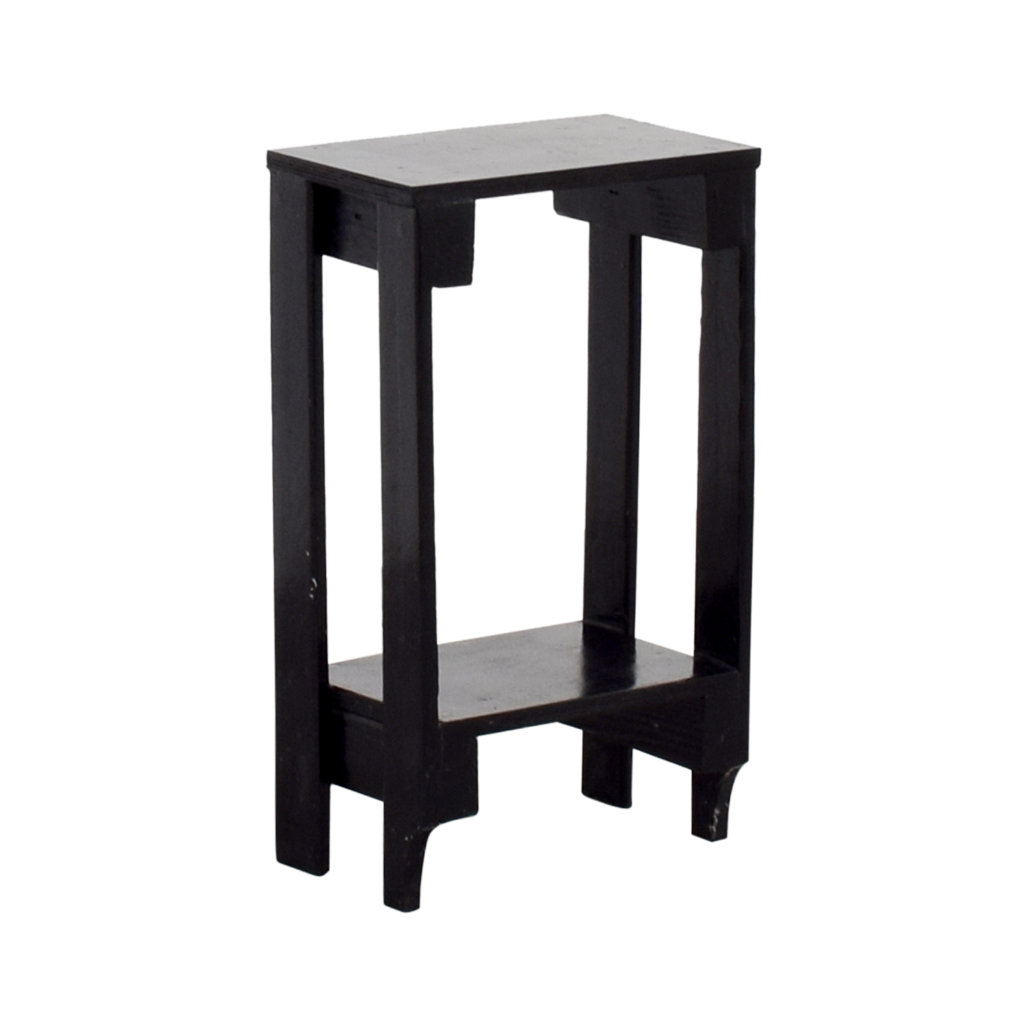 Small Black Table with Bottom Shelf discount