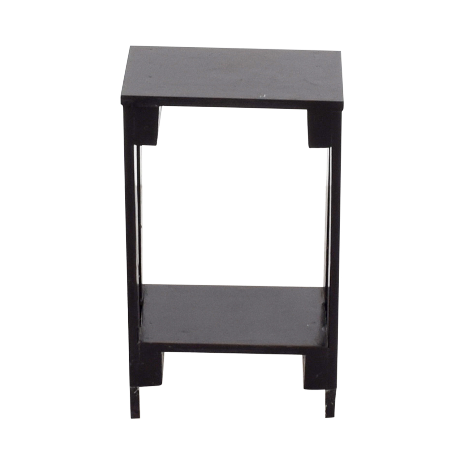 shop Small Black Table with Bottom Shelf Accent Tables