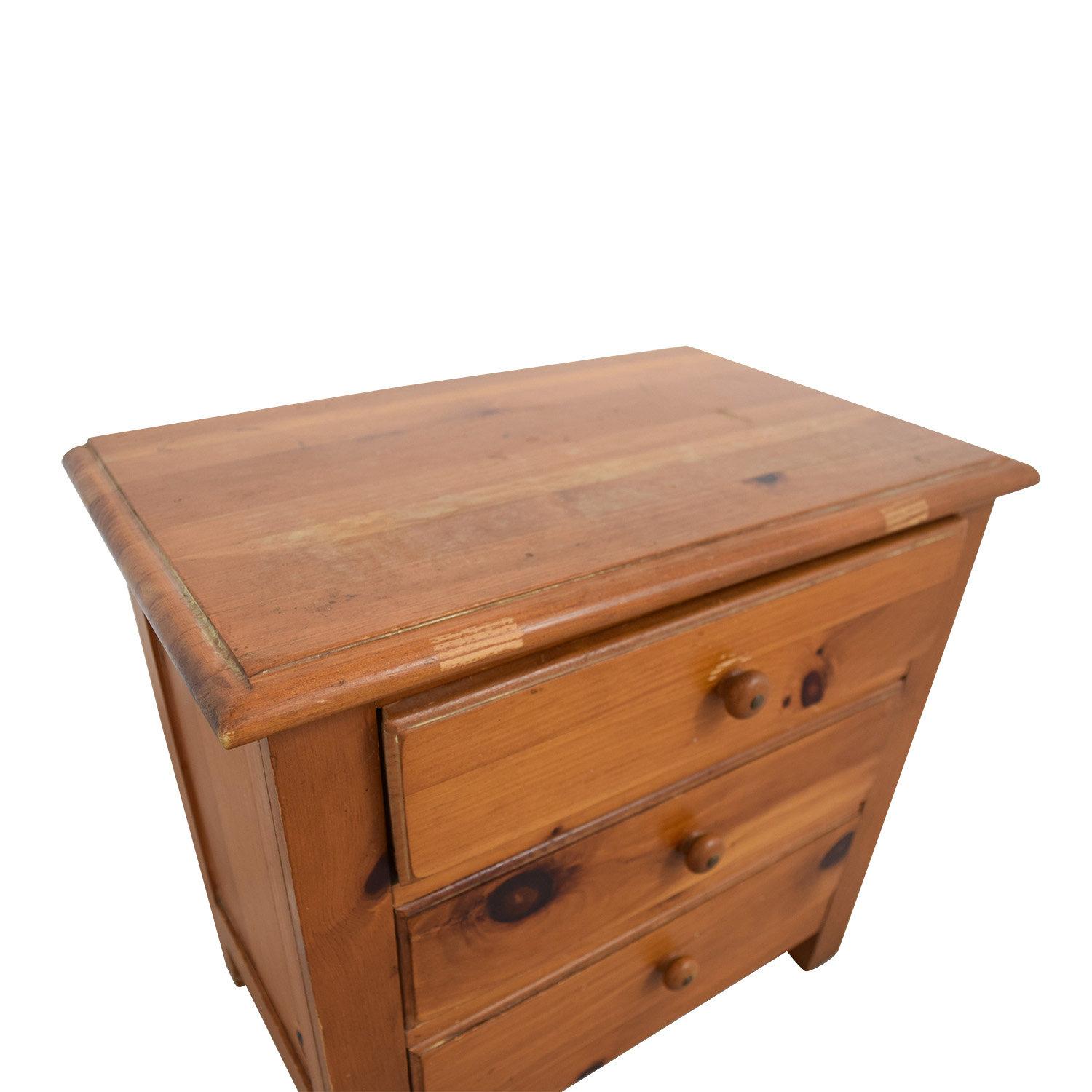 Three-Drawer Side Table End Tables