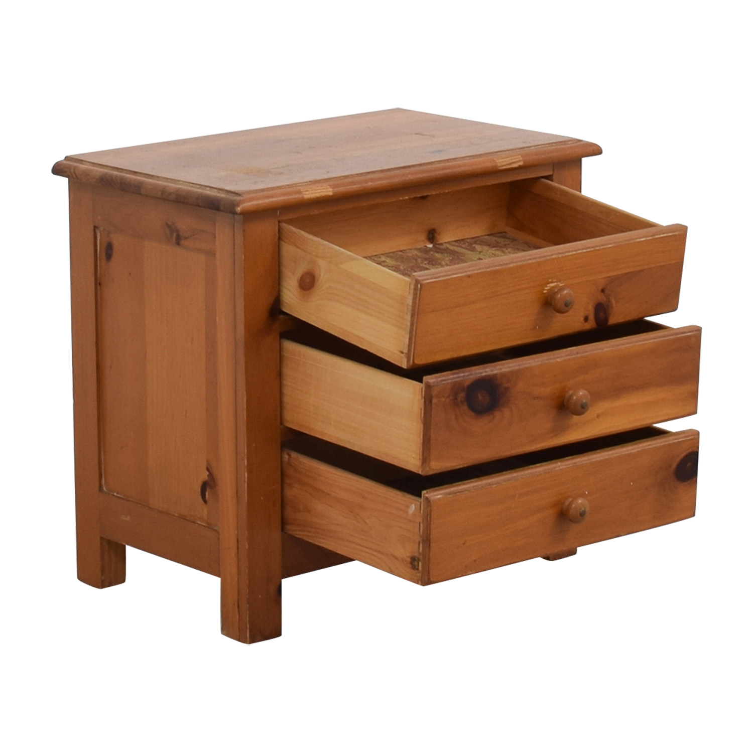 Three-Drawer Side Table price