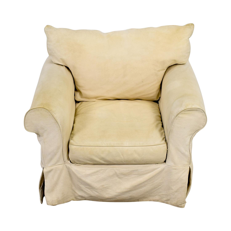 Awe Inspiring 90 Off Jennifer Furniture Jennifer Furniture Cream Skirted Sofa Chair Chairs Download Free Architecture Designs Rallybritishbridgeorg