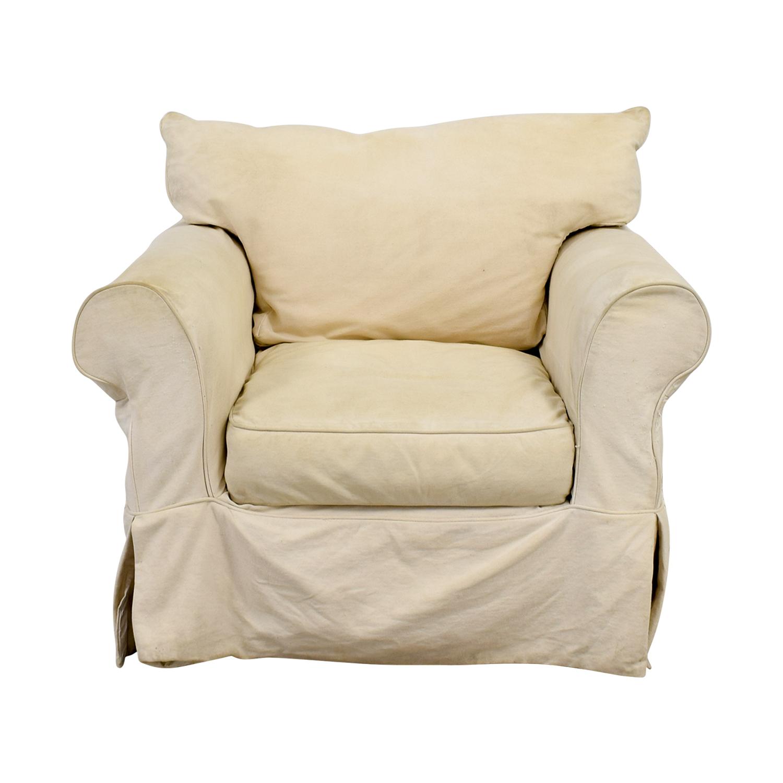 Jennifer Furniture Jennifer Furniture Cream Skirted Sofa Chair cream