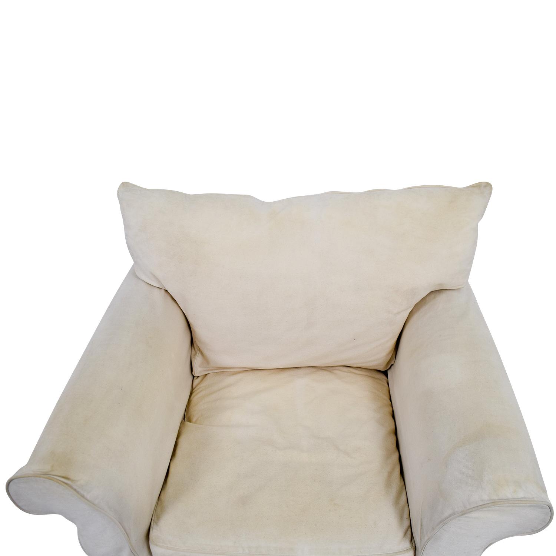 Jennifer Furniture Jennifer Furniture Cream Skirted Sofa Chair used