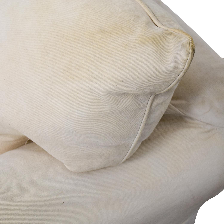 Jennifer Furniture Jennifer Furniture Cream Skirted Sofa Chair for sale