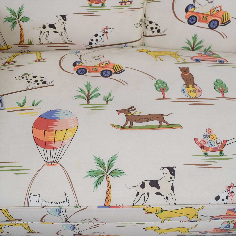 Furniture Masters Furniture Masters White Puppies Kids Sofa dimensions