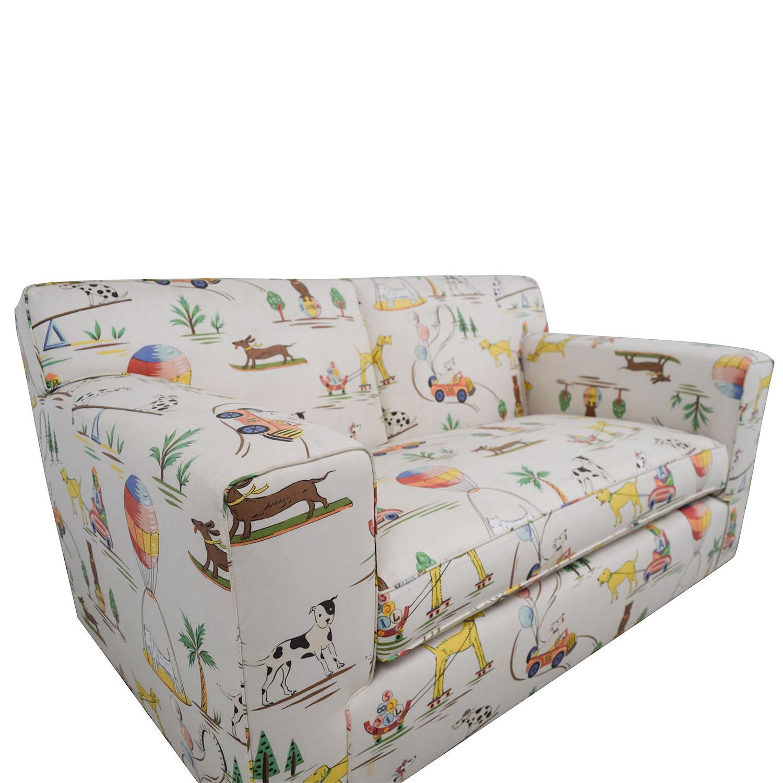 Furniture Masters White Puppies Kids Sofa / Loveseats