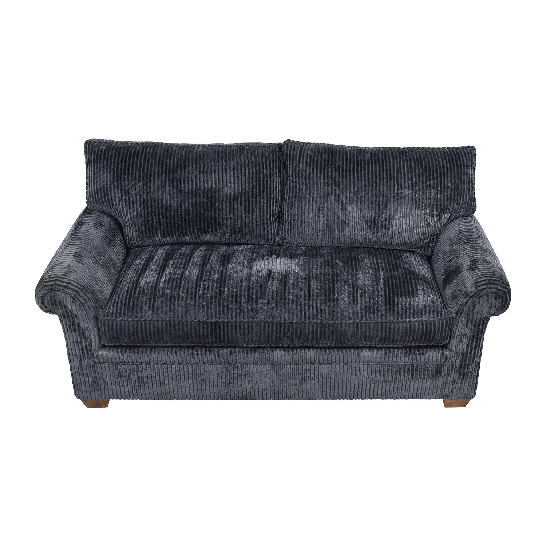 buy Furniture Masters Blue Corduroy Loveseat Furniture Masters Sofas