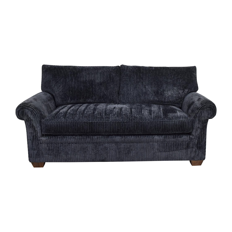 Furniture Masters Blue Corduroy Loveseat / Sofas