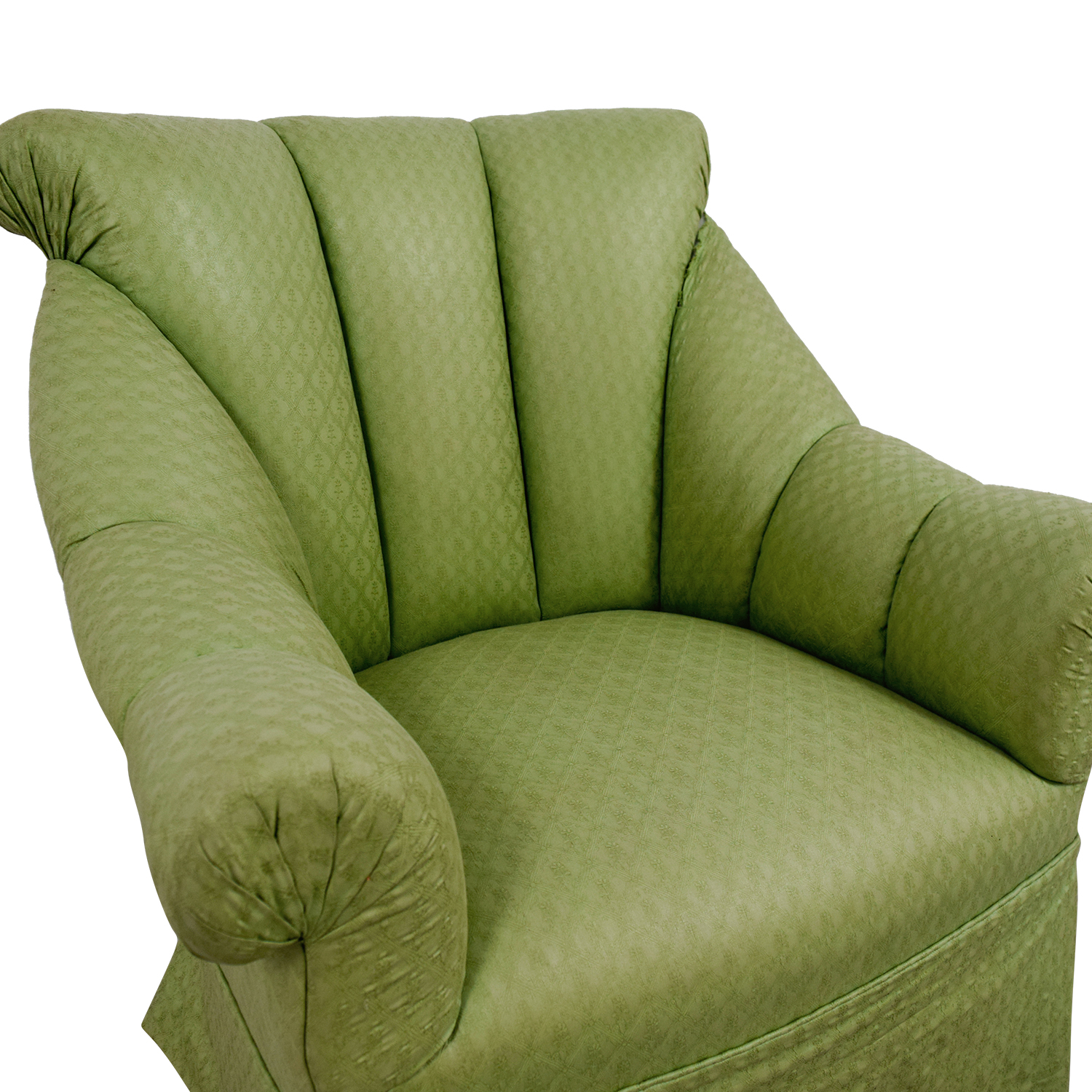 shop Furniture Masters Green Skirted Armchair Furniture Masters Chairs