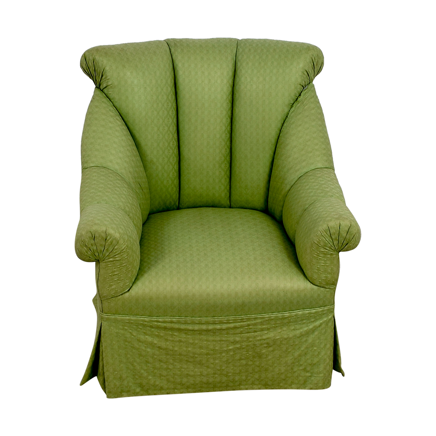 Furniture Masters Furniture Masters Green Skirted Armchair nyc