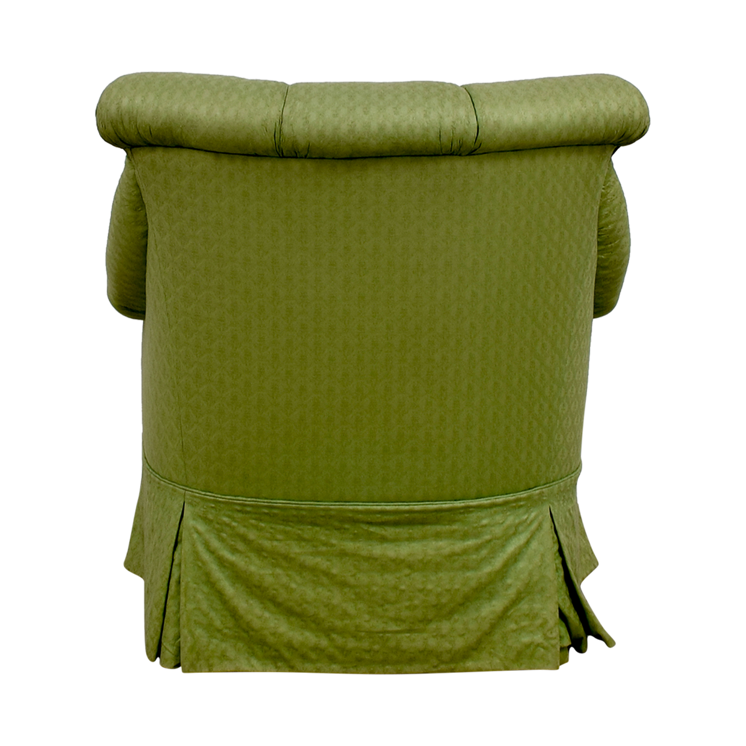 Furniture Masters Furniture Masters Green Skirted Armchair
