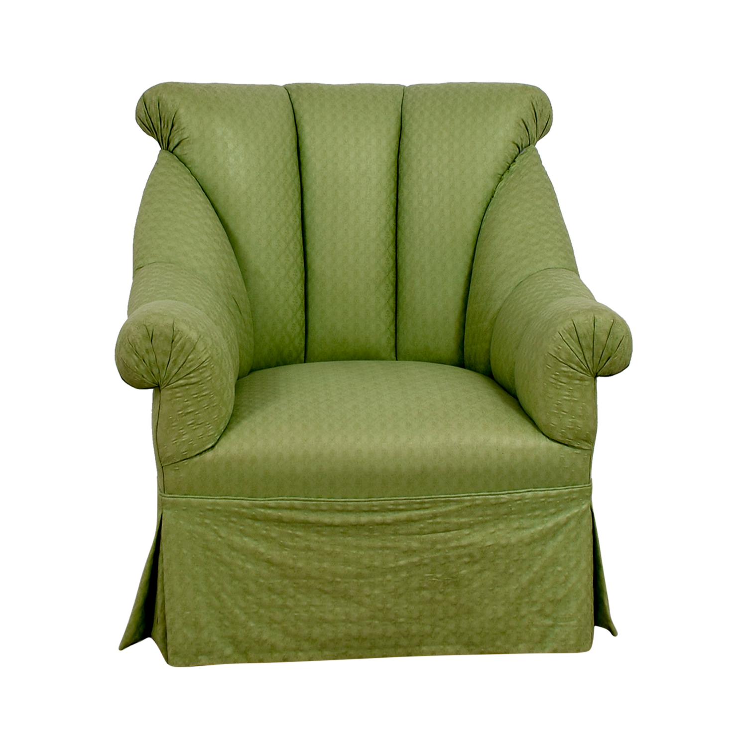 Furniture Masters Furniture Masters Green Skirted Armchair on sale