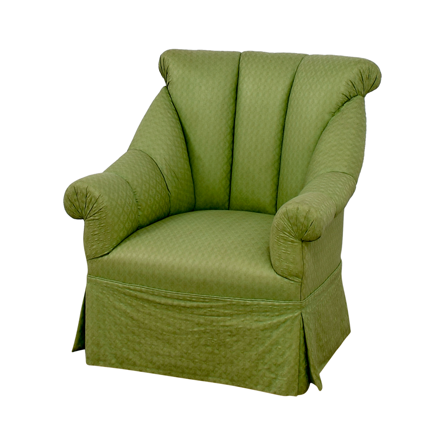 shop Furniture Masters Furniture Masters Green Skirted Armchair online