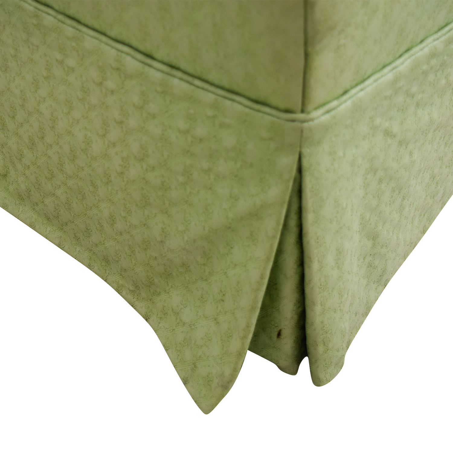 Furniture Masters Furniture Masters Green Skirted Armchair second hand