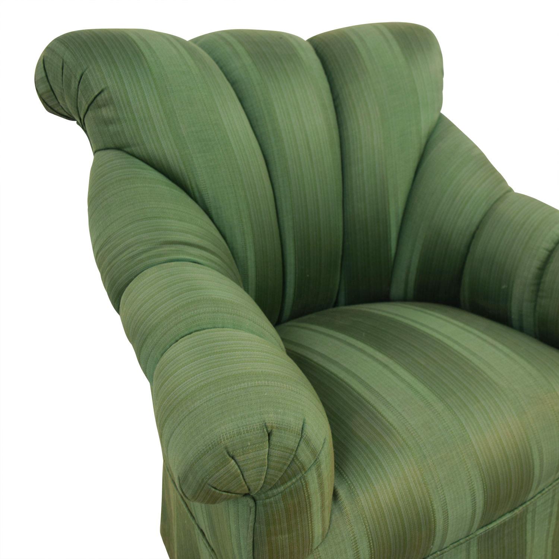 Furniture Masters Furniture Masters Dark Green Skirted Armchair green