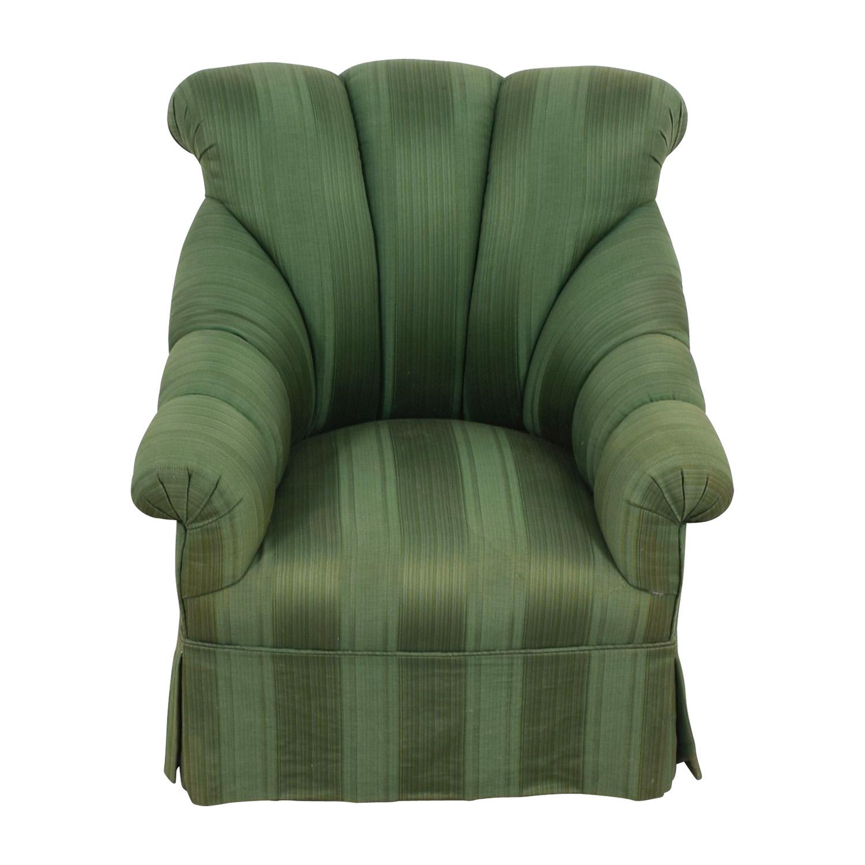 Furniture Masters Furniture Masters Dark Green Skirted Armchair price