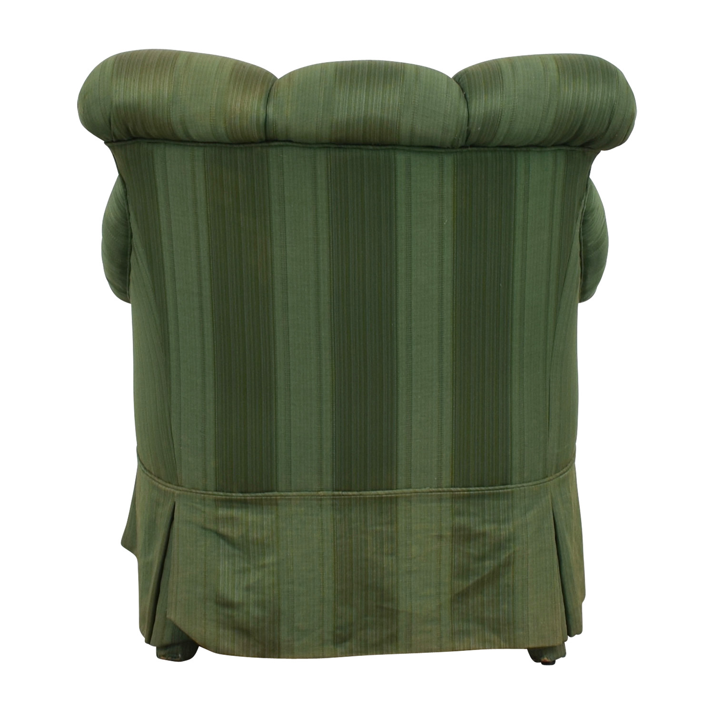 buy Furniture Masters Dark Green Skirted Armchair Furniture Masters