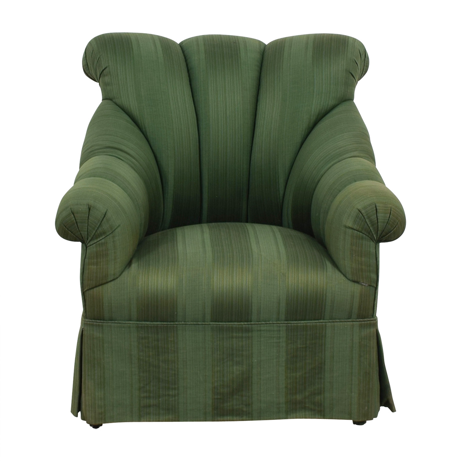 Furniture Masters Furniture Masters Dark Green Skirted Armchair second hand
