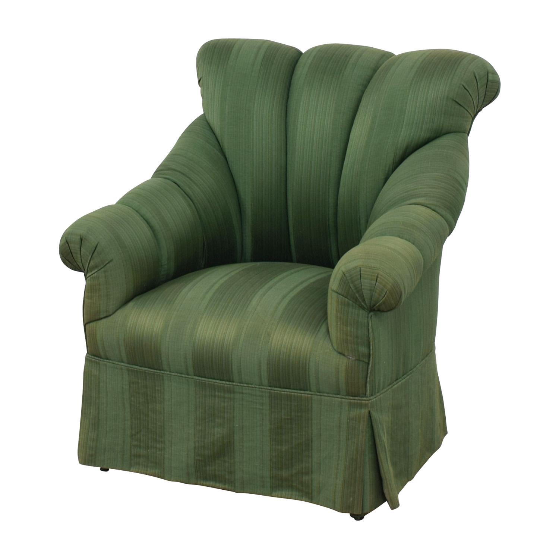Furniture Masters Dark Green Skirted Armchair sale