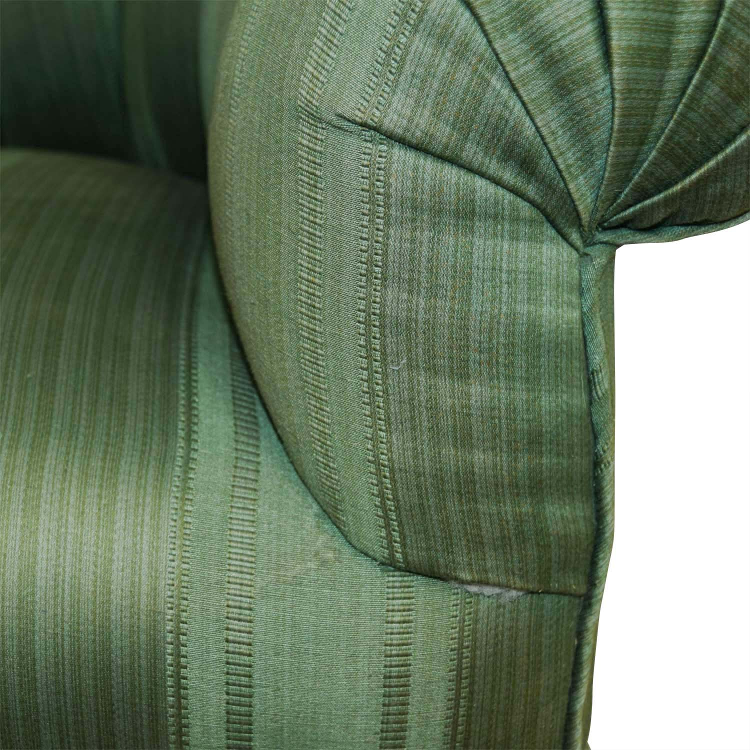 shop Furniture Masters Dark Green Skirted Armchair Furniture Masters Chairs