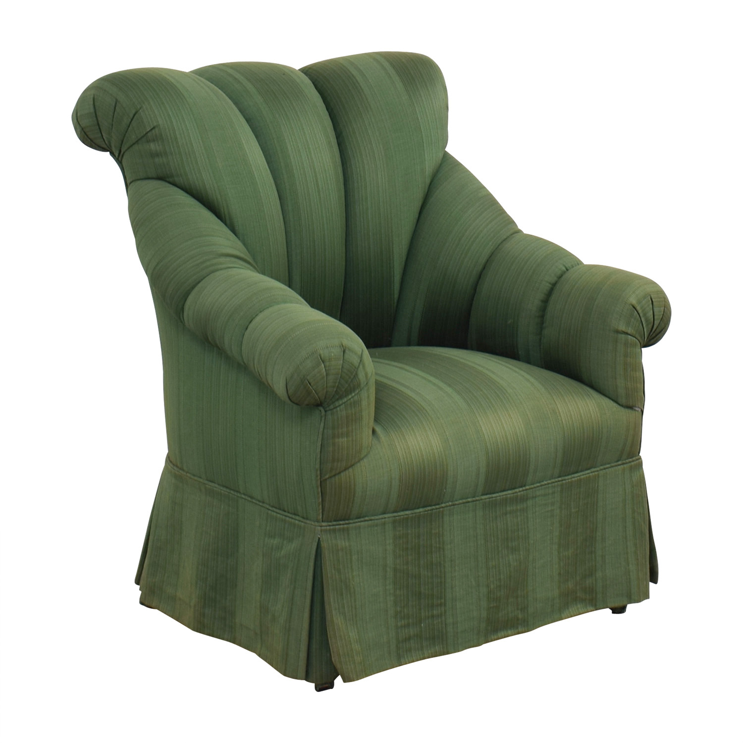 Furniture Masters Furniture Masters Dark Green Skirted Armchair coupon