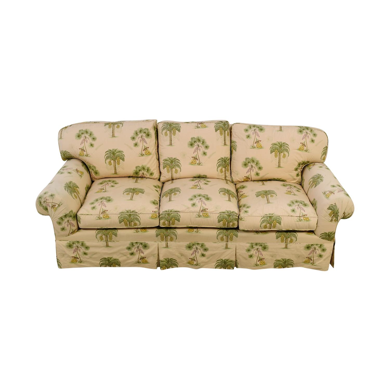 Furniture Masters Furniture Masters Oriental Tree Three Cushion Sofa white/green