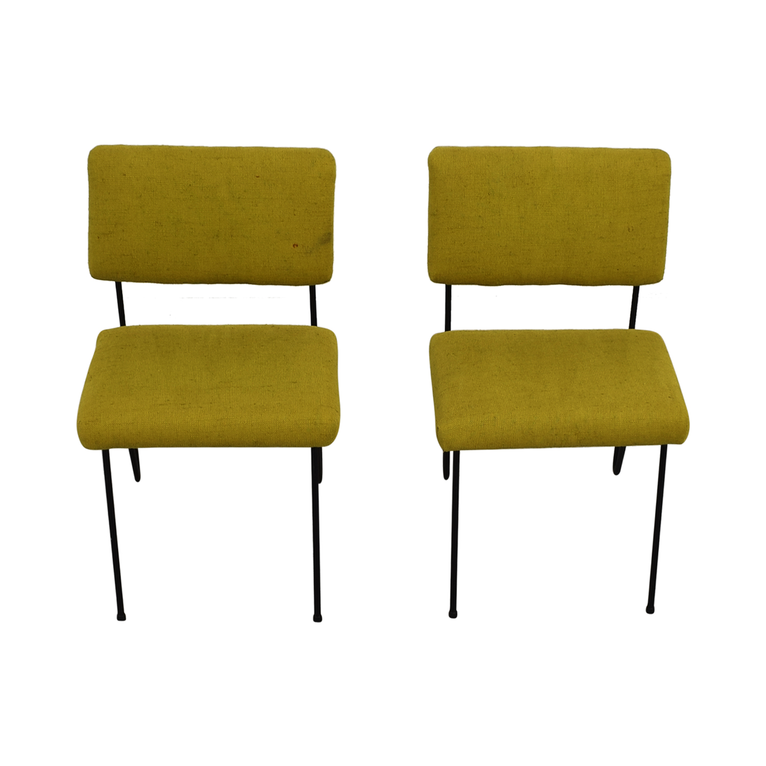 Cool 63 Off Furniture Masters Furniture Masters Green Fabric And Metal Chairs Chairs Ibusinesslaw Wood Chair Design Ideas Ibusinesslaworg